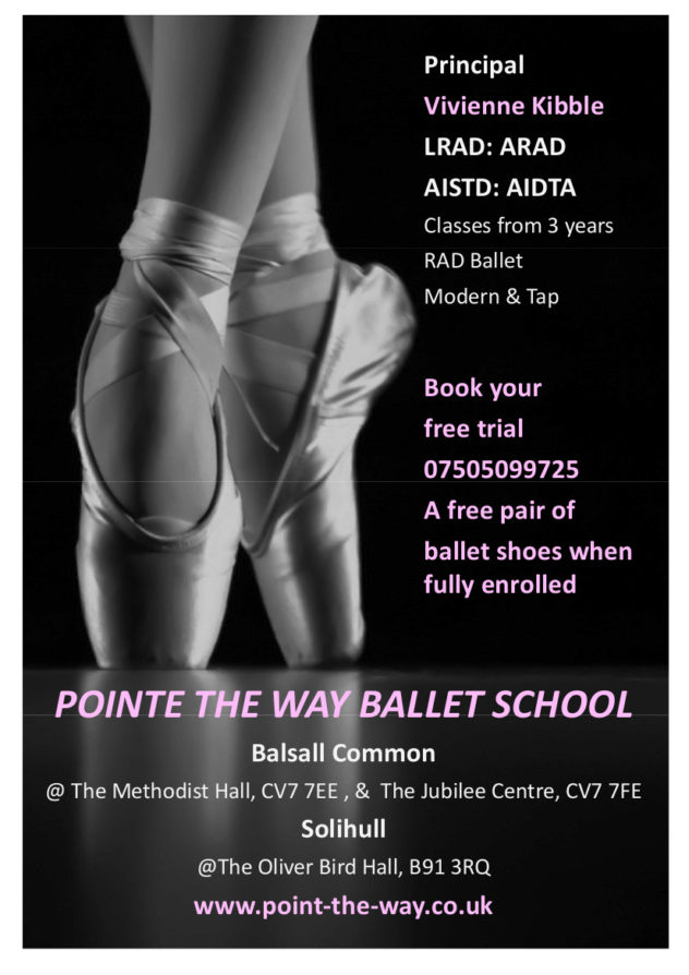 pointe the way ballet school promotional offer with free ballet shoes